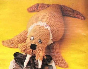 Vintage Crochet Pattern Walrus