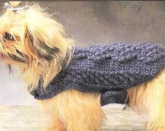 Vintage Crochet Pattern Dog Sweaters