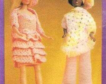 Vintage Crochet Pattern Fashion Doll Clothes