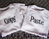 COPY and PASTE twin onesie set