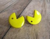 PacMan earrings Pac Man 1980s geekery
