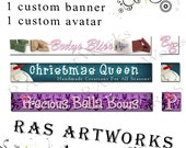 Custom Etsy Banner and Avatar - Starter Package OOAK