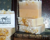 Orange and Vanilla  Handmade Goats Milk Soap Big 5-6 Oz.Creme Bar