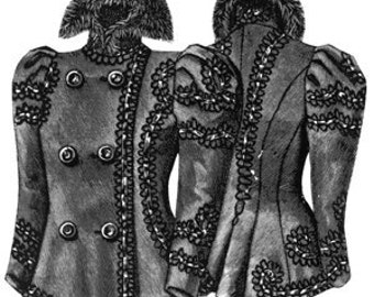 Ageless Patterns Victorian 1897 Ladies Jacket sewing Pattern