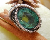 Wire Wrapped Jewelry Tutorial - Encasing Non Drilled Stone - Majestic Ring