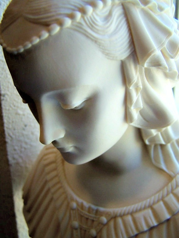 Alabaster Sculpture A Giannelli Signed Bust Italy