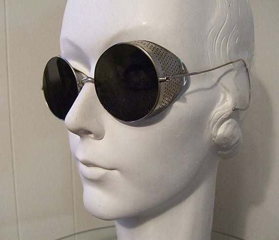 Antique Round Goggles Tinted Lens Willson 30 S 40 S