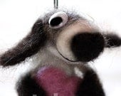 NEEDLE FELTED FUNNY DOG SCULPTURE - big size hanging dog sculpture by catshome