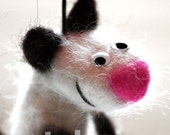 NEEDLE FELTED FUNNY CAT SCULPTURE - big size hanging cat sculpture by catshome