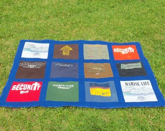 Custom Memory 12 Tee Shirt Quilt with your own Tshirts