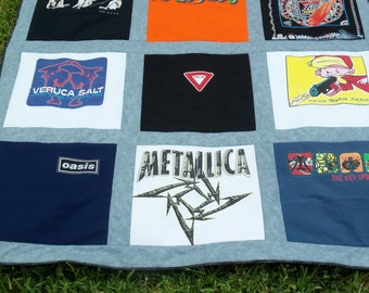Think Birthday  Turn his Music Shirts into a Quilt made from Tshirts