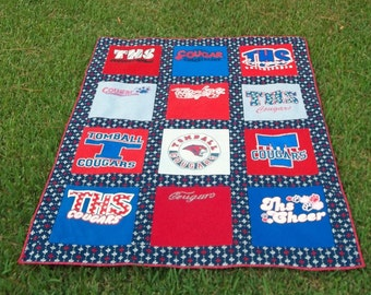 Tshirt Memory Quilt with your choice of Tshirts