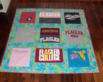 Celebrate Turning 40 with a Birthday Tshirt Quilt made for your loved one