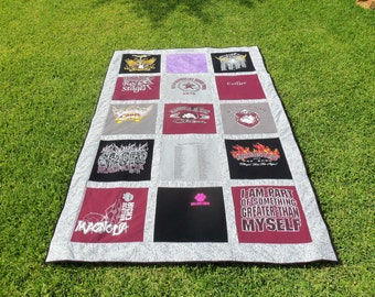 Tshirts can great oversized lap quilts and make wonderful Christmas Gifts