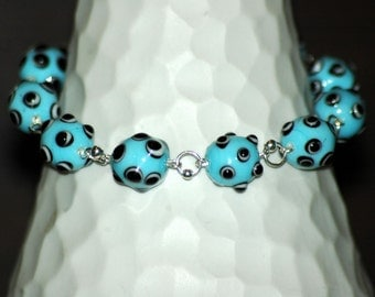 Baby Blue Bumpy Beads  bracelet