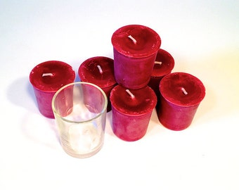 Rich and Strong 6 Pack of Handcrafted Cherry Almond Soy Votives