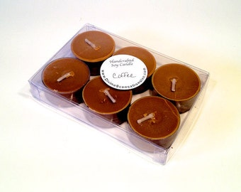 6 Pack Coffee Soy Tea Lights