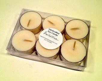 6 pack Ambrosia Soy Wax Tea Lights