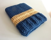 Laptop sleeve macbook sleeve apple bag case light marine blue brown knitted 13 inch