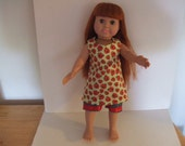 Lady Bug Jumper Dress and Shorts AG doll clothes Ready to Ship