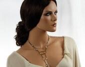 Flirty Lariat Necklace - Ready to Ship - Handmade  by VividColors