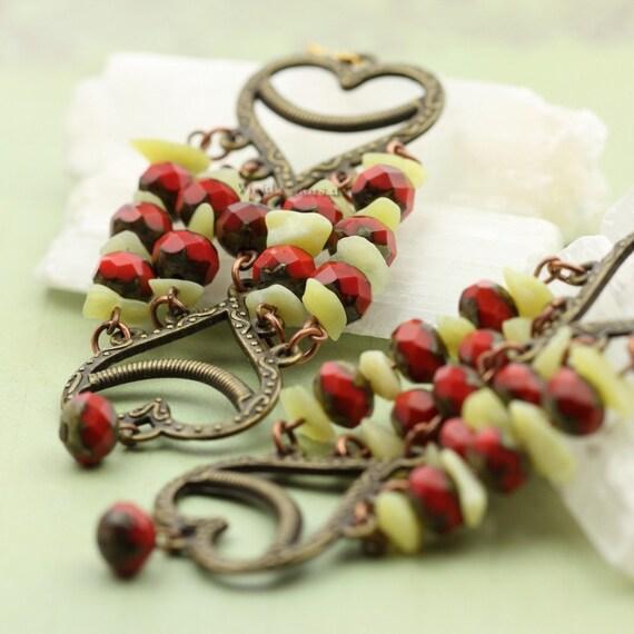 One of a Kind Boho Chic Chandelier Earrings - Ready to Ship  - Handmade - by VividColors
