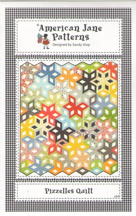 Items similar to Pizzelles Quilt Pattern by Sandy Klop of American Jane Patterns - Honey Bun ...