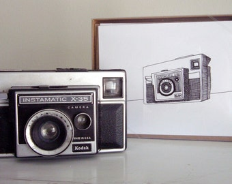 Camera Note Card Set - Ten blank cards with Camera drawing