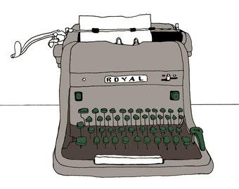 HH Royal Typewriter print
