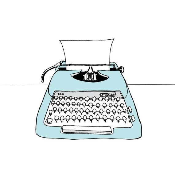 Typewriter Illustration print The Sterling
