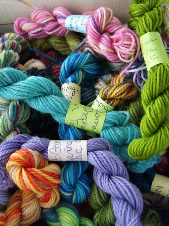 RESERVED - Spring Blossoms - Mini Skeins Fingering Sock Yarn Kit - Mini Mania (12)