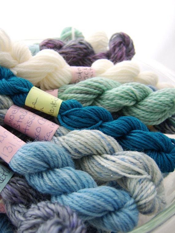 Winter Wonderland - Mini Skeins Fingering Sock Yarn Kit - Mini Mania (10)