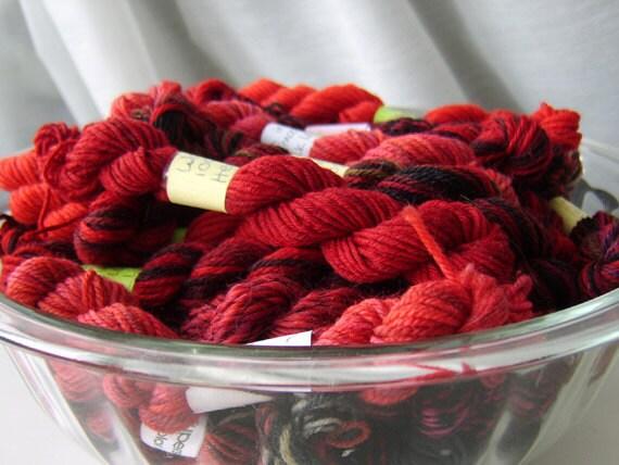 RESERVED FOR PEATMOSS83 -  Mini Skeins Fingering Sock Yarn Kit - Mini Mania  (12)