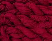 500 yards worsted weight yarn, wine, 5 skeins, 9 oz.