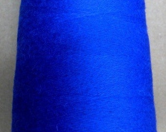 cashmere wool blend yarn, lace weight, royal blue