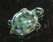 Glass Turtle Pendant Honeycomb Design