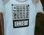 5318008 spells BOOBIES - Boobie calculator onesie or Toddler Tee - hand screen print