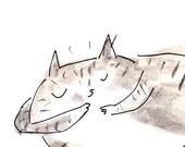 Cat Card- Sleepy Time