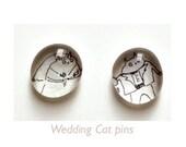 Wedding Cat Pins