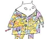Cat Pajamas Animal Print Sleepwear- You're the cat's pajamas