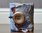 Fabric scrap cuff-Blues