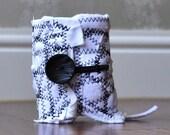 Black n White - SMALL - a fabric scrap cuff