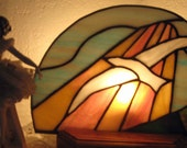 Heaven sent  Stained Glass Night Light with removable panel