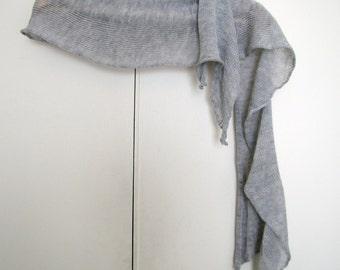 silver/grey cashmere/silk scarf