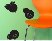 Birds set of three decal
