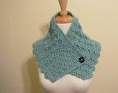 CHRISTMAS SALE Seafoam Green Crochet Neckwarmer Crochet  Neckwarmer for Women - Ready to Ship - Direct Checkout