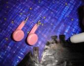Pink Ear Buddies - Earbud Earrings - SALE 30percent OFF -