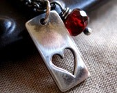 One Love...Sterling Silver and Garnet