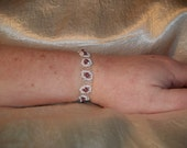 White with Lavender Beads Right Angle Weave Bracelet