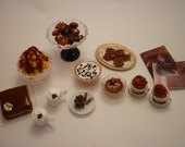 Chocolate collection patisserie miniature food